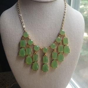 Kate Spade Riviera Garden Green Crystal Necklace